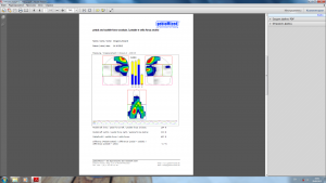 Fig. 4. Example of research report of E.Vorganov. Right lift-off leg is weaker by 13.4%, dissymetric position on a saddle.